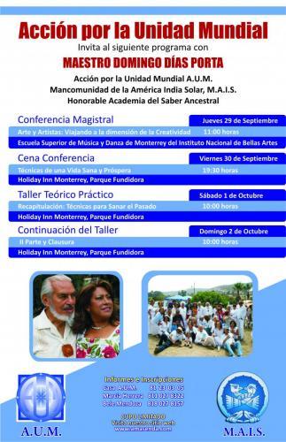 Poster Programa Gira Misional Maestro Domingo Días Porta (2)