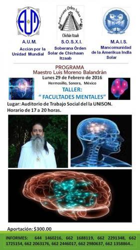 TALLER FACULTADES MENTALES M LUIS M BALANDRÁN   29 FEBRERO 2016